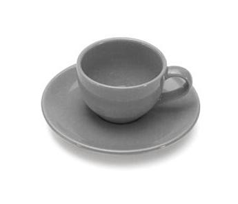 COLOURS Šálek s podšálkem na Espresso 70 ml šedý - Carlo Giannini