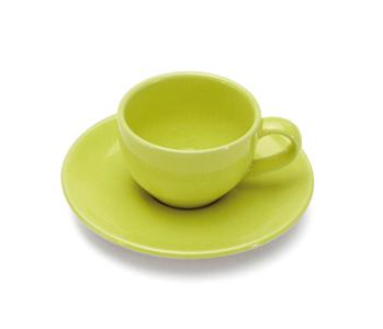 COLOURS Šálek s podšálkem na Espresso 70 ml Limetkově zelený - Carlo Giannini