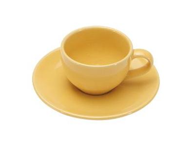 COLOURS Šálek s podšálkem na Espresso 70 ml žlutý - Carlo Giannini
