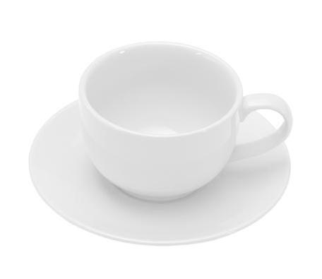 COLOURS Šálek s podšálkem na cappuccino bílý - Carlo Giannini