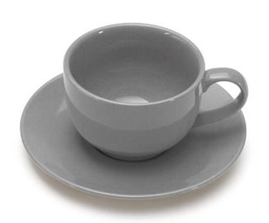 COLOURS Šálek s podšálkem na cappuccino šedý - Carlo Giannini