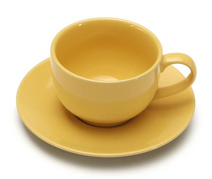 COLOURS Šálek s podšálkem na cappuccino žlutý - Carlo Giannini