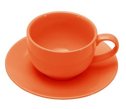 COLOURS Šálek s podšálkem na cappuccino oranžový - Carlo Giannini