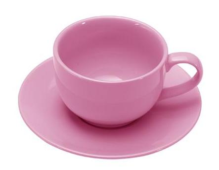 COLOURS Šálek s podšálkem na cappuccino růžový - Carlo Giannini