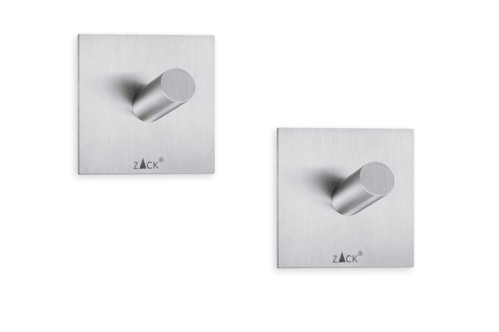 Fotografie Set 2ks háčků na ručník DUPLO matný, 4,2x4,2 cm - ZACK