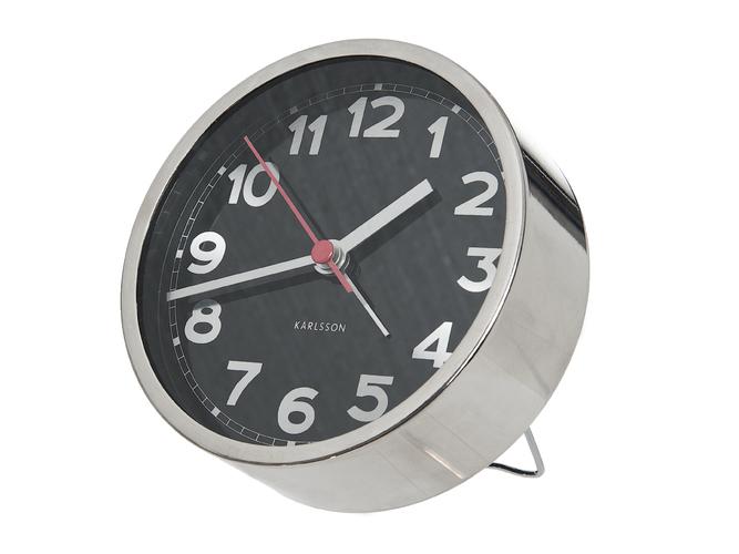 Designový budík Gray 11 cm šedý - Karlsson