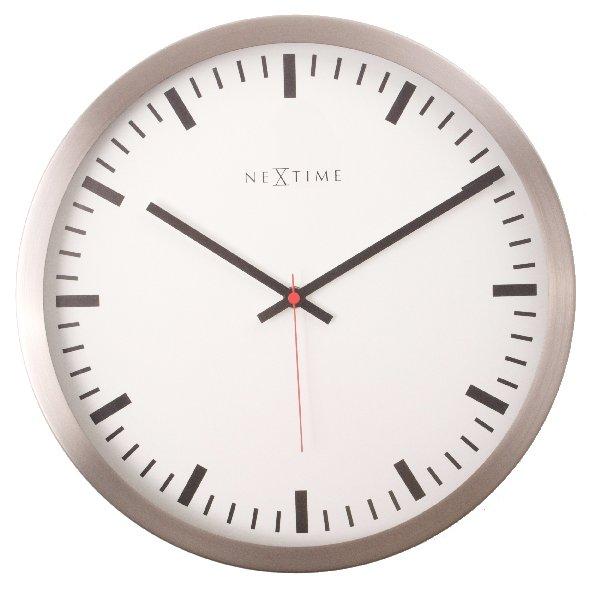 Nástěnné hodiny STRIPE gold/white 45 cm - NEXTIME
