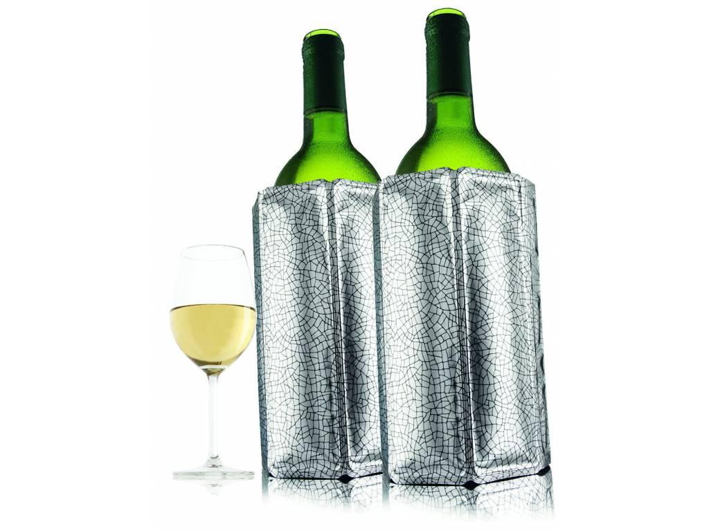 IIC Chladící návlek na víno stříbrný set 2 ks - Vacuvin