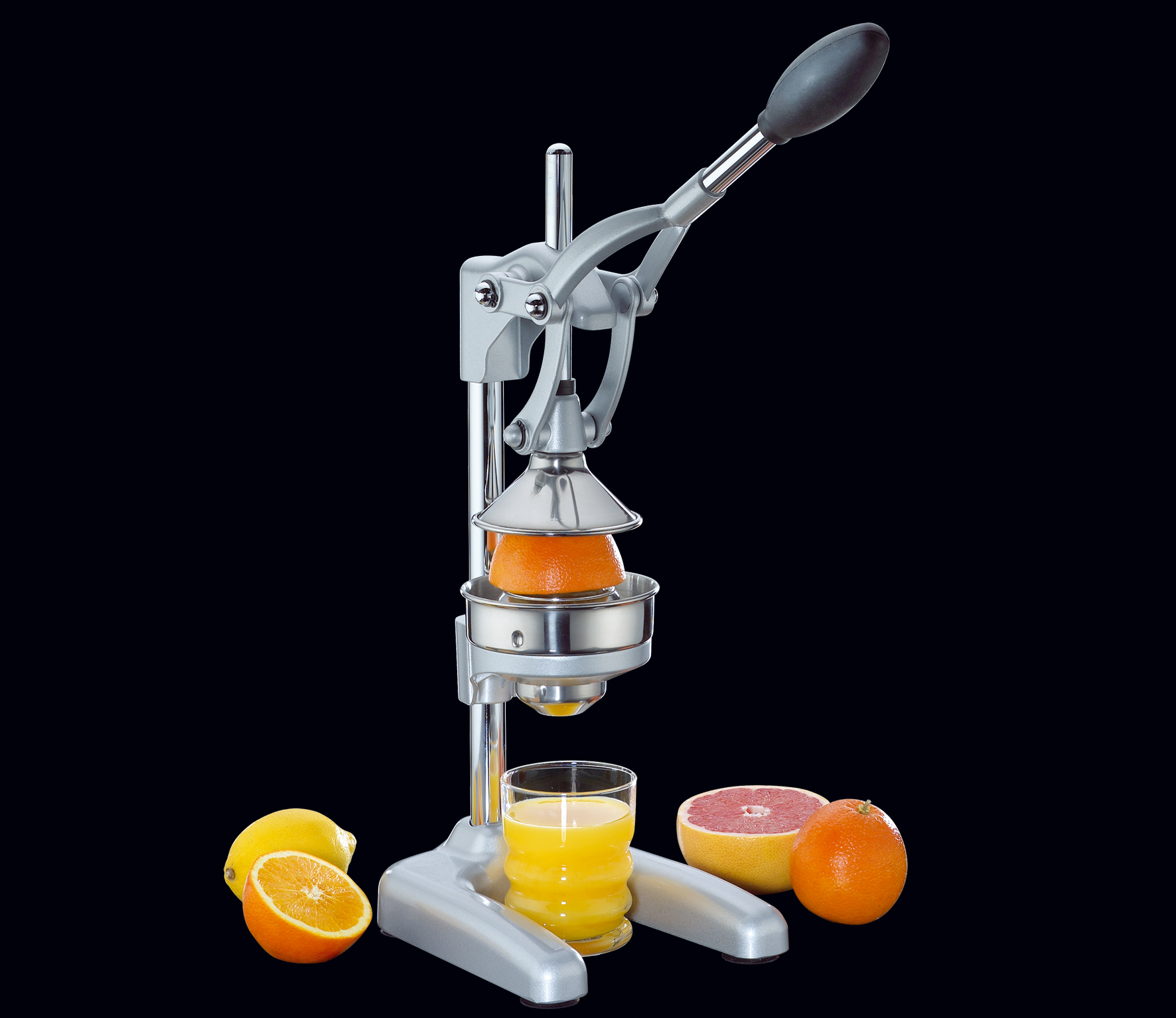 Pákový Lis na pomeranče matný stříbrný - Cilio