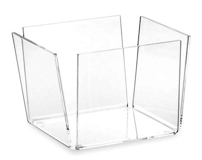 Čtvercová miska 22x22cm, transparentní - Carlo Giannini