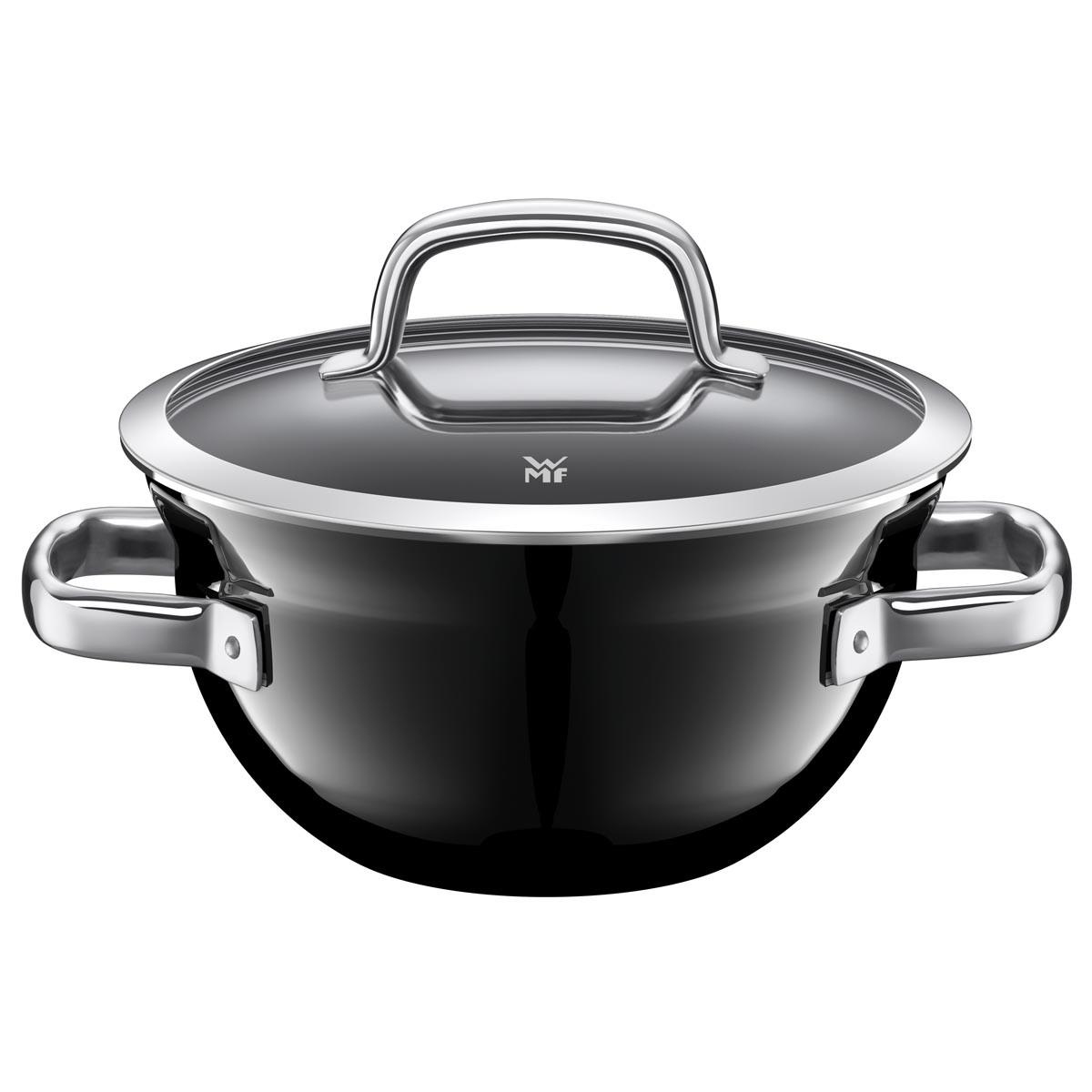 Mísa na vaření s poklicí 24 cm FUSIONTEC černý - WMF