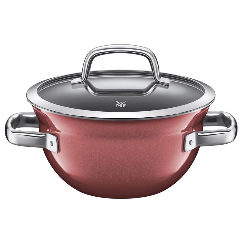 Mísa na vaření s poklicí 24 cm FUSIONTEC červený - WMF