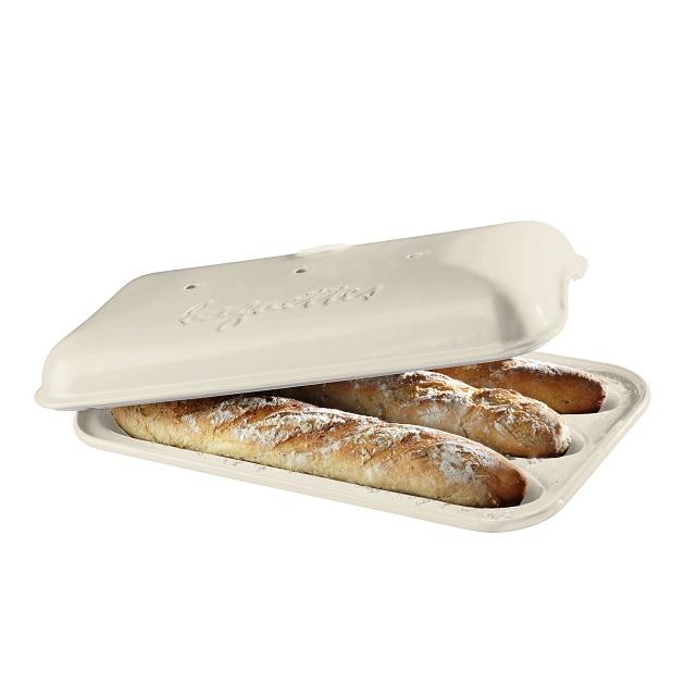 Forma na pečení 3 ks pařížských baget lněná E-BALENÍ - Emile Henry