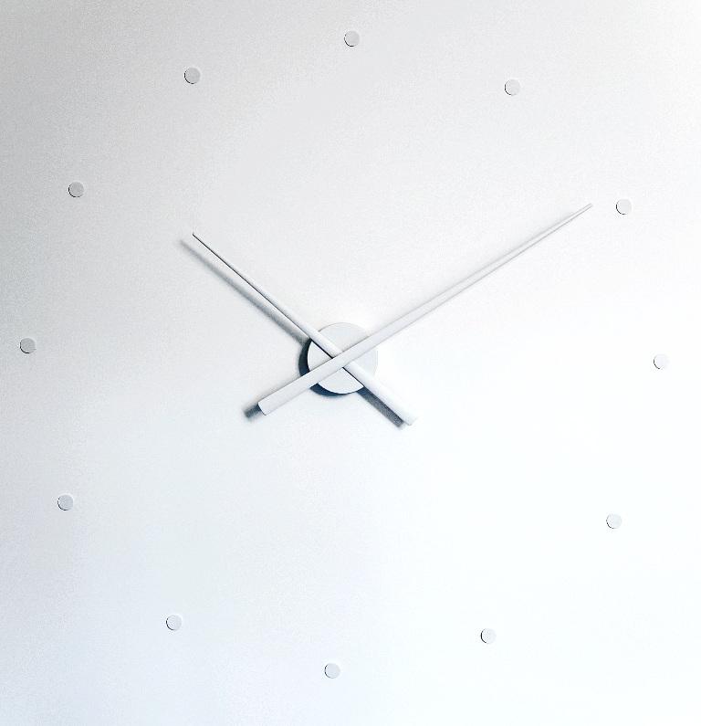 Nástěnné hodiny NOMON OJ bílé 80 cm - NOMON