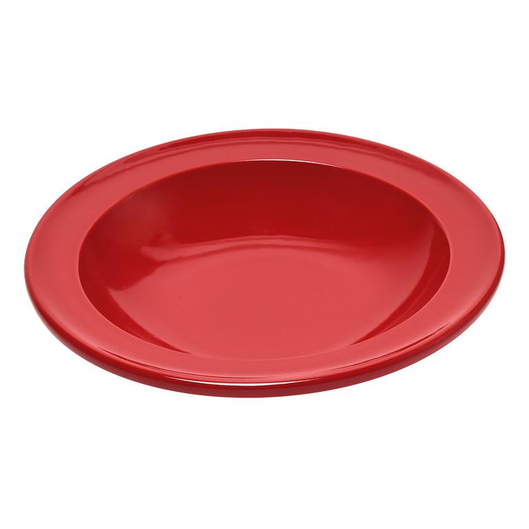 Talíř polévkový 22 cm Burgundy granátový červený - Emile Henry
