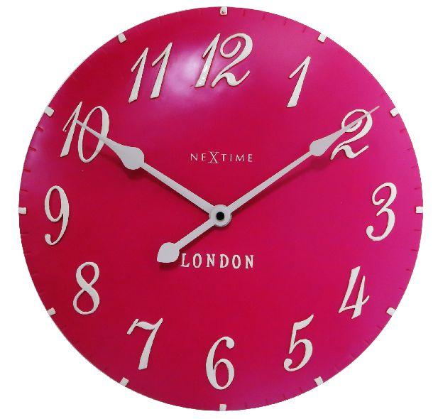 Nástěnné hodiny London Arabic 35 cm růžové - NEXTIME