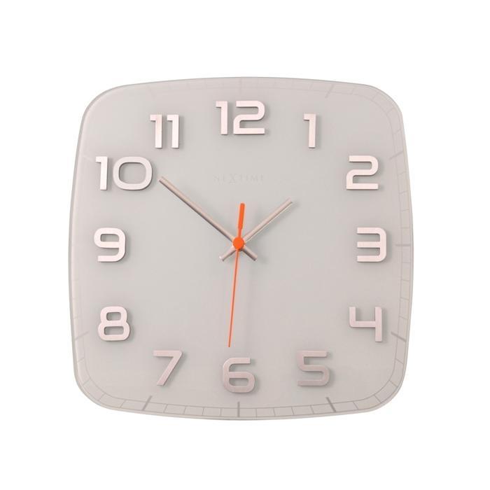 Nástěnné hodiny Classy square 30 cm bílé - NEXTIME