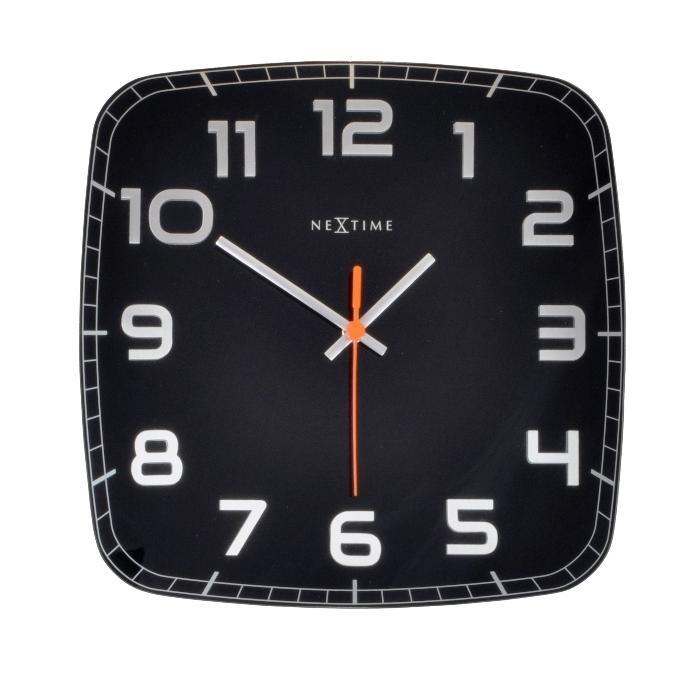 Nástěnné hodiny Classy square 30 cm černé - NEXTIME