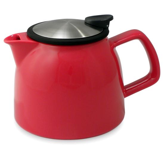 Porcelánová konvička na čaj Bell 1,2 l červená - ForLife