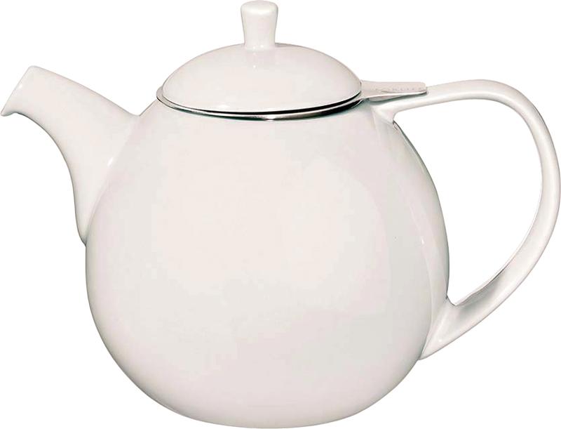 Porcelánová konvička na čaj Curve 1,3 l bílá - ForLife