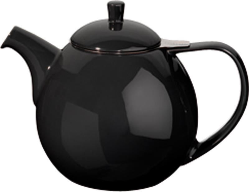 Porcelánová konvička na čaj Curve 1,3 l černá - ForLife