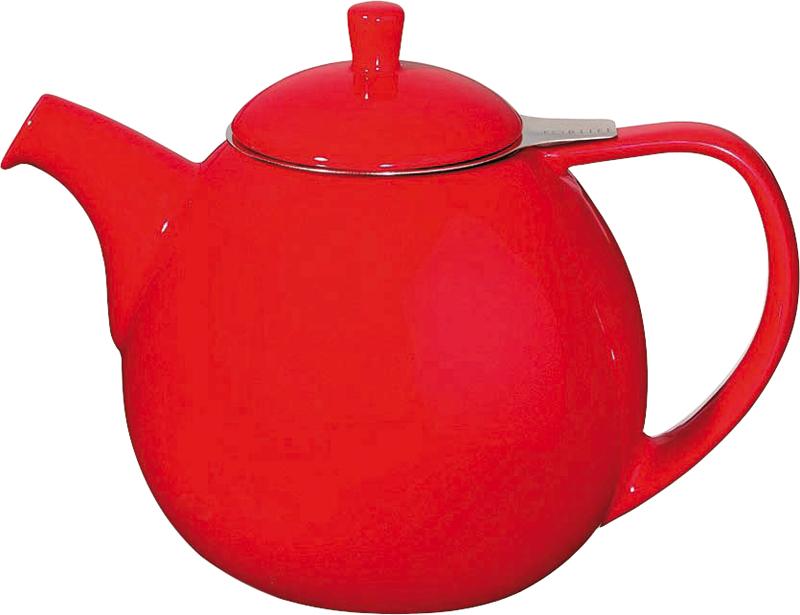 Porcelánová konvička na čaj Curve 1,3 l červená - ForLife