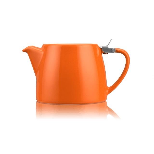 Porcelánová konvička na čaj Stump 0,55 l oranžová - ForLife