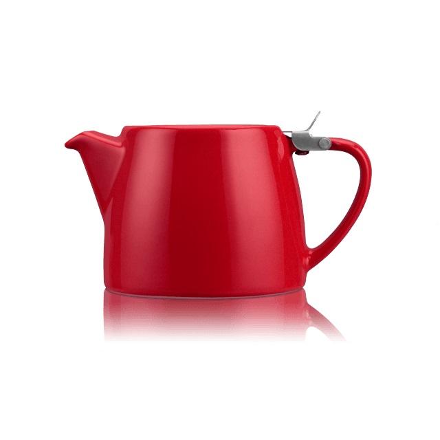 Porcelánová konvička na čaj Stump 0,55 l červená - ForLife