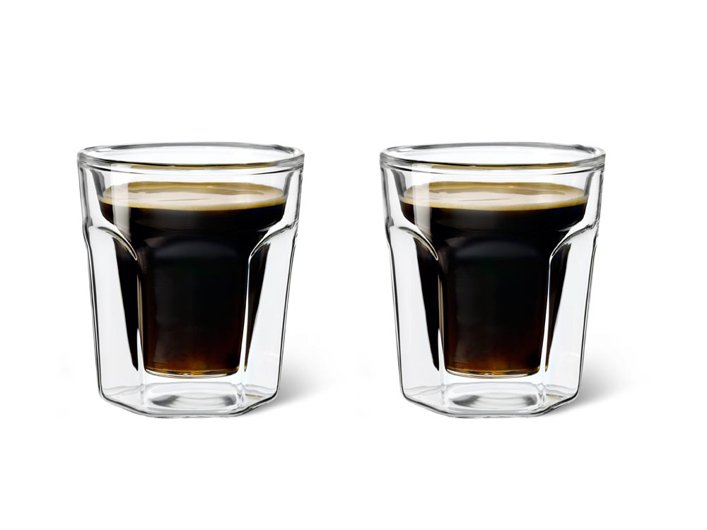Dvoustěnný skleněný šálek na Espresso 100 ml 2ks - Leopold Vienna
