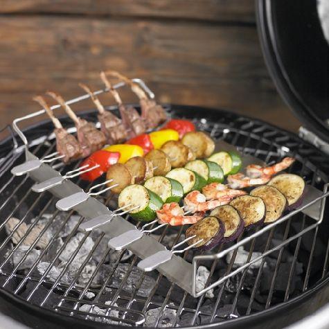 Barbecue stojan na špízy + 6 ks jehel - Rösle