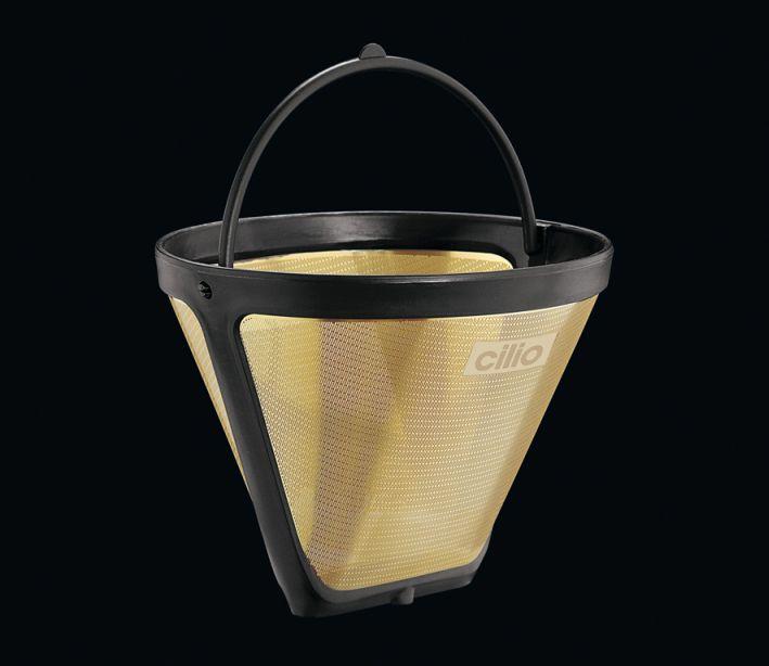 Permanentní zlatý filtr na kávu 1x2 - Cilio