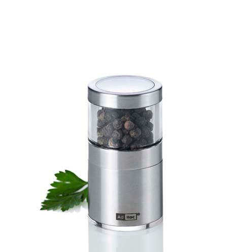 Mlýnek na pepř či sůl BASSO nerezový 7,5 cm - AdHoc