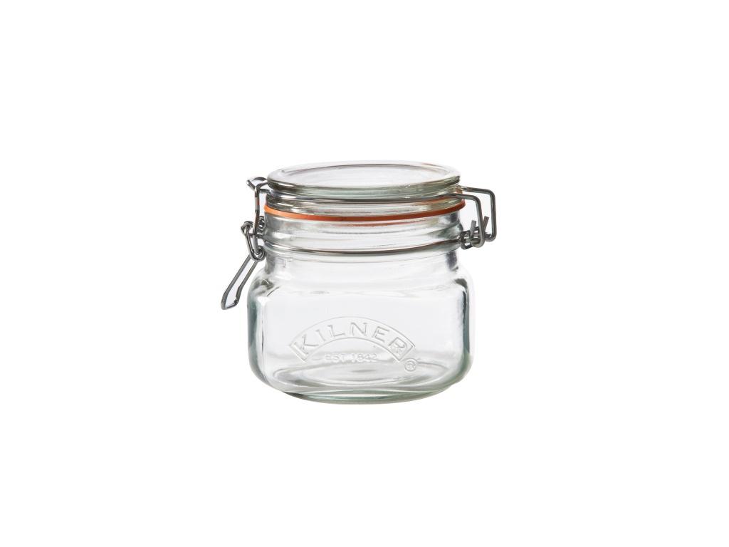KILNER zavařovací sklenice s klipem 0,5l hranatá - Kilner