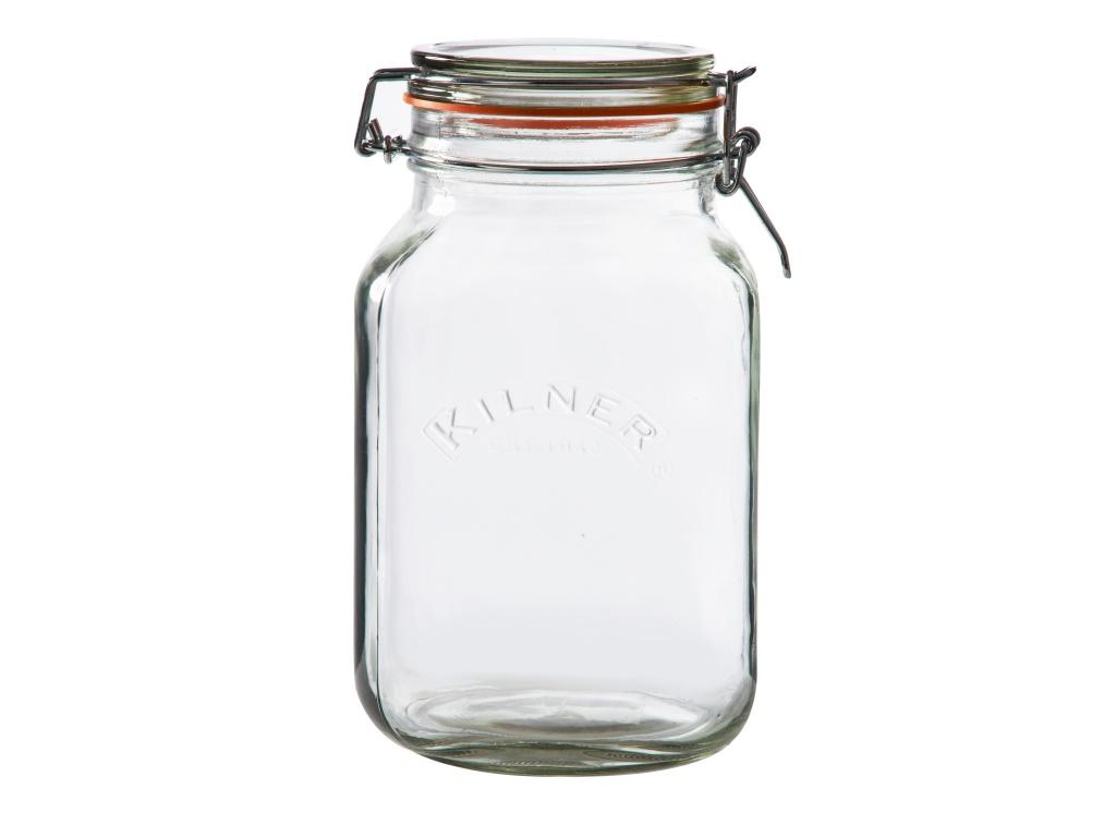 KILNER zavařovací sklenice s klipem 2l hranatá - Kilner