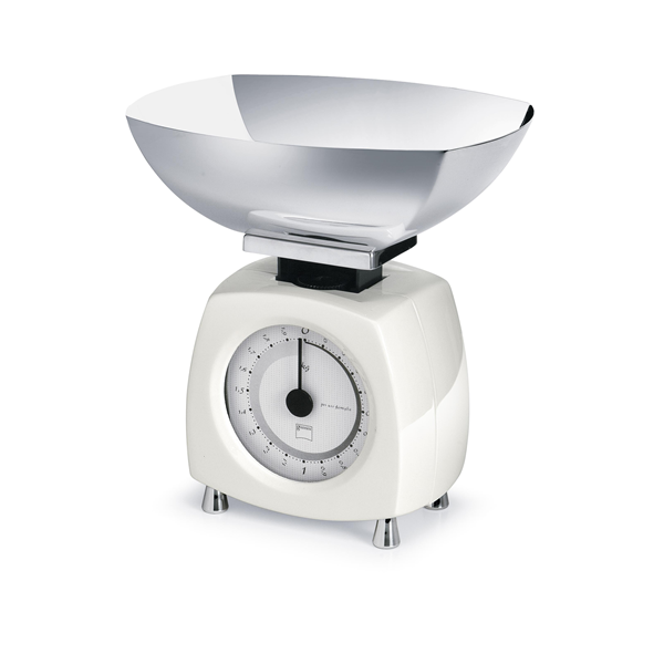 Glossy Designová Kuchyňská váha bílá - Carlo Giannini