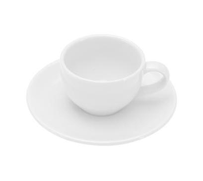 COLOURS Šálek s podšálkem na Espresso 6ks 70 ml bílá - Carlo Giannini