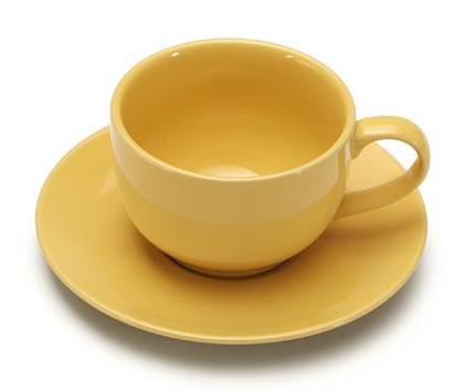 COLOURS Šálek s podšálkem na cappuccino 6ks žlutá - Carlo Giannini