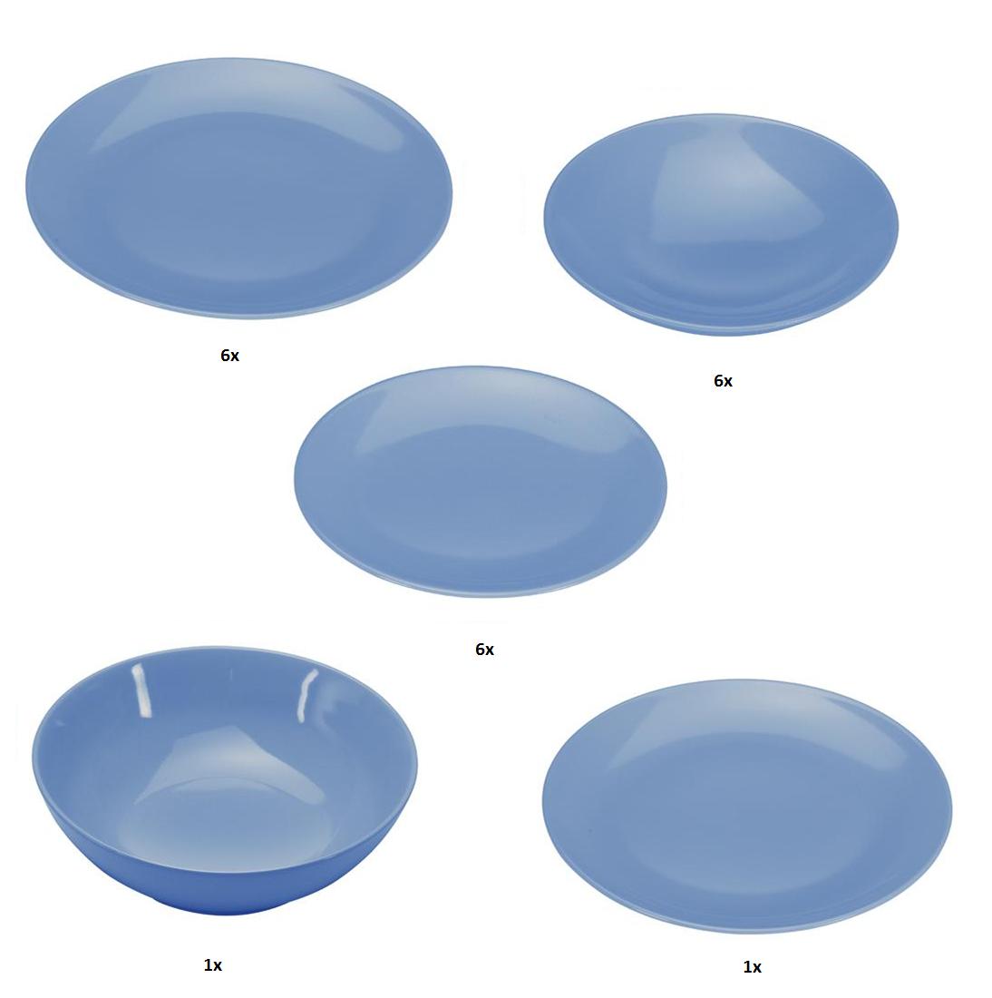 COLOURS Jídelní souprava 20 ks modrá - Carlo Giannini