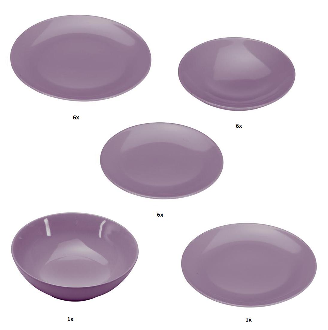 COLOURS Jídelní souprava 20 ks fialová - Carlo Giannini