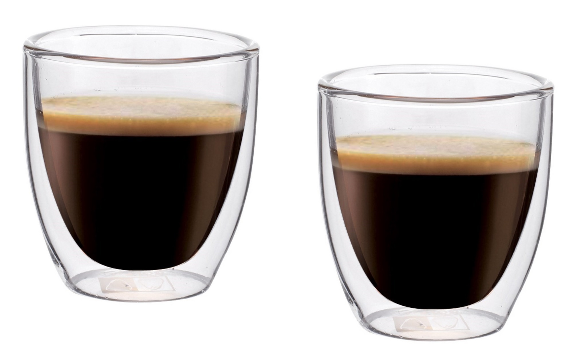Dvoustěnný skleněný šálek na Espresso 80 ml 2ks - Maxxo