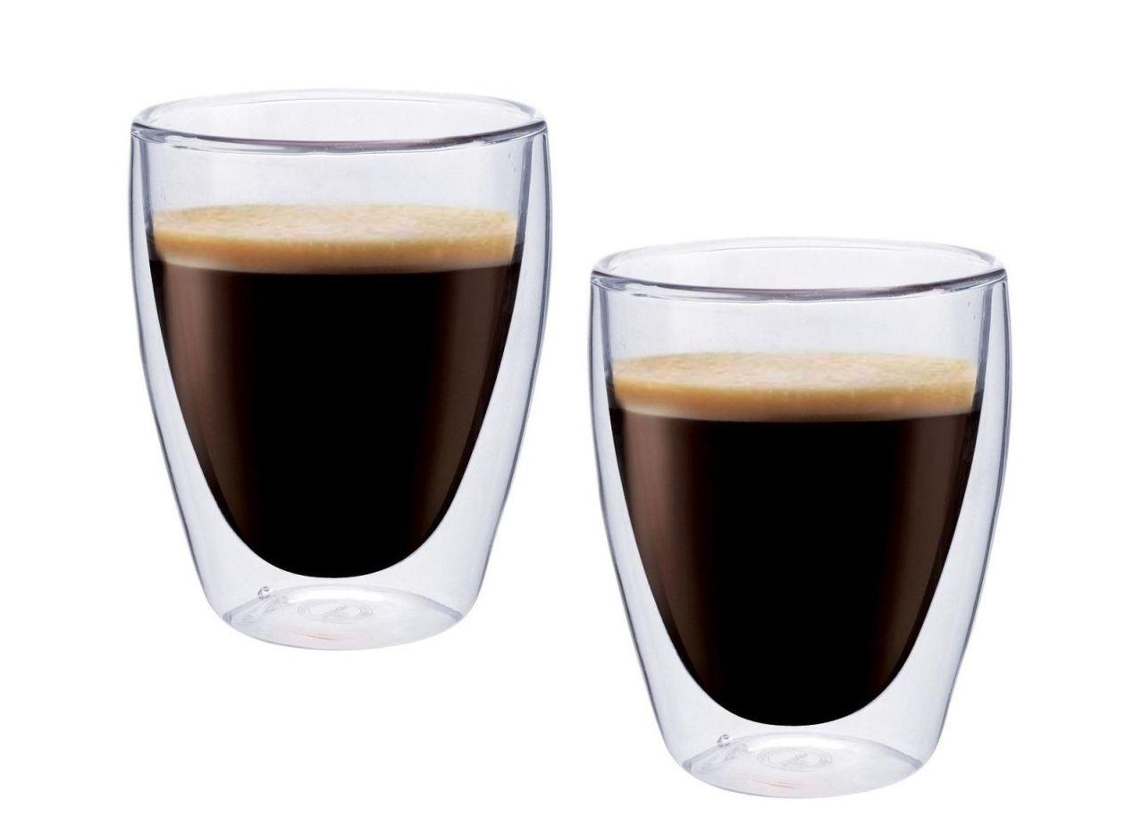 Dvoustěnný skleněný šálek na Espresso 235 ml 2ks - Pavina