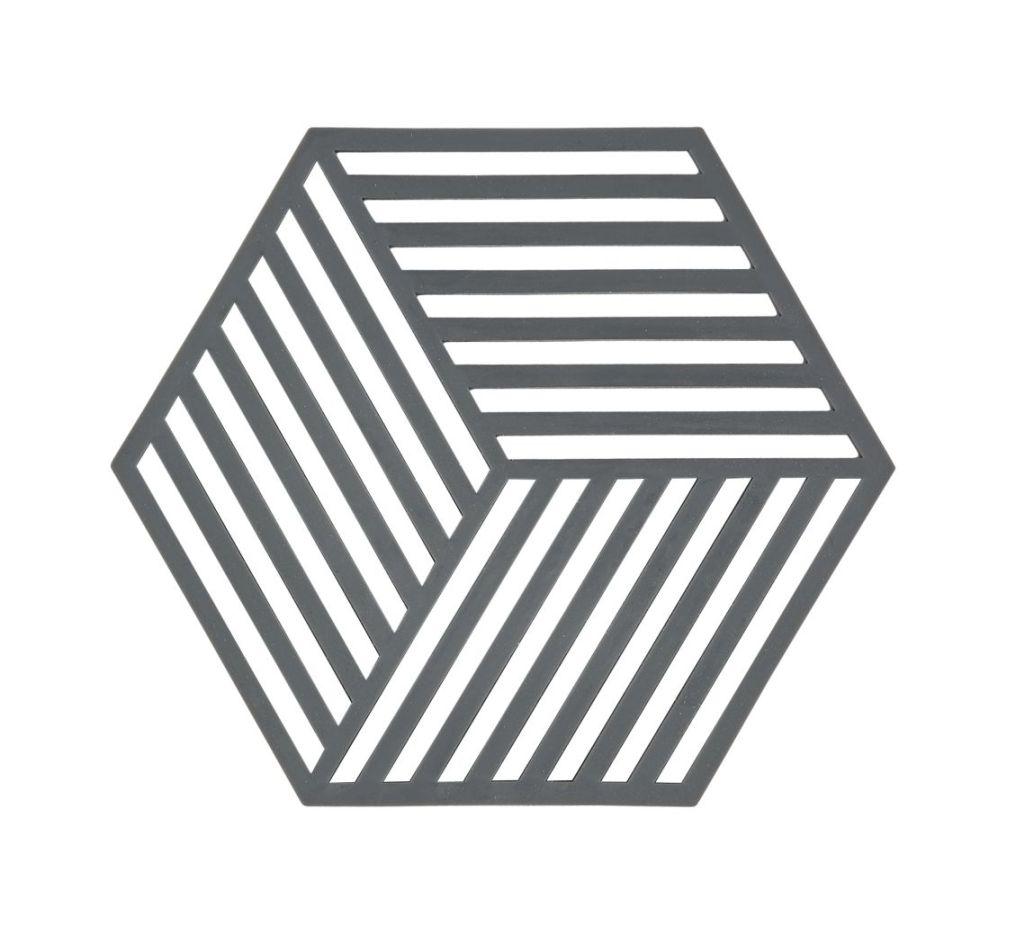 Silikonová podložka pod horké HEXAGON šedá - Zone