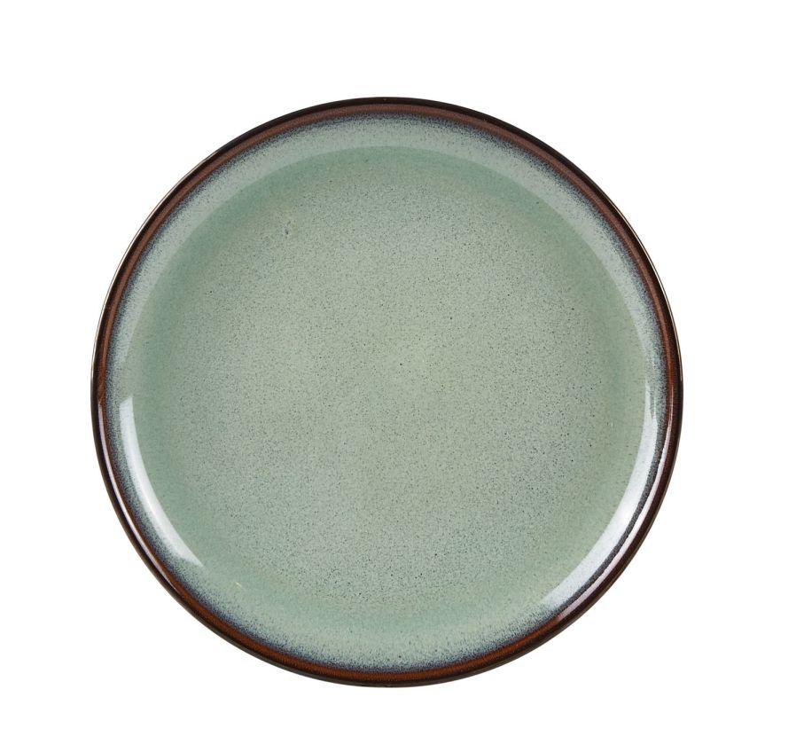 Kameninový talíř Ø 20 cml, zelený - Galzone