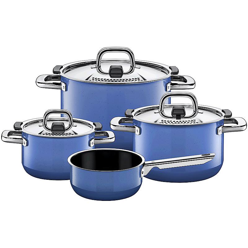 Sada nádobí s rendlíkem Nature Blue 4 díly - Silit-WMF Group