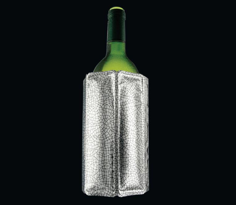 Chladící manžeta na lahev, stříbrná - Cilio