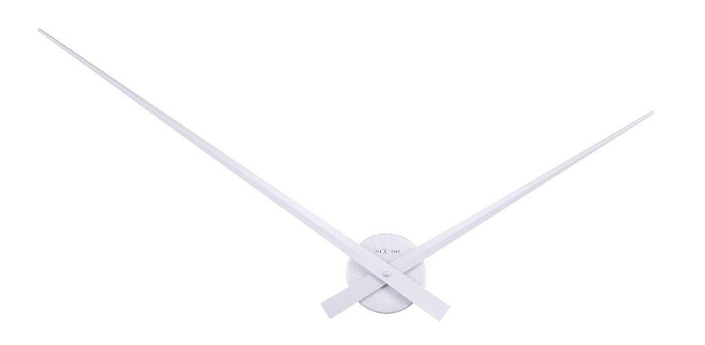 Nástěnné hodiny HANDS stříbrné 85 cm - NEXTIME