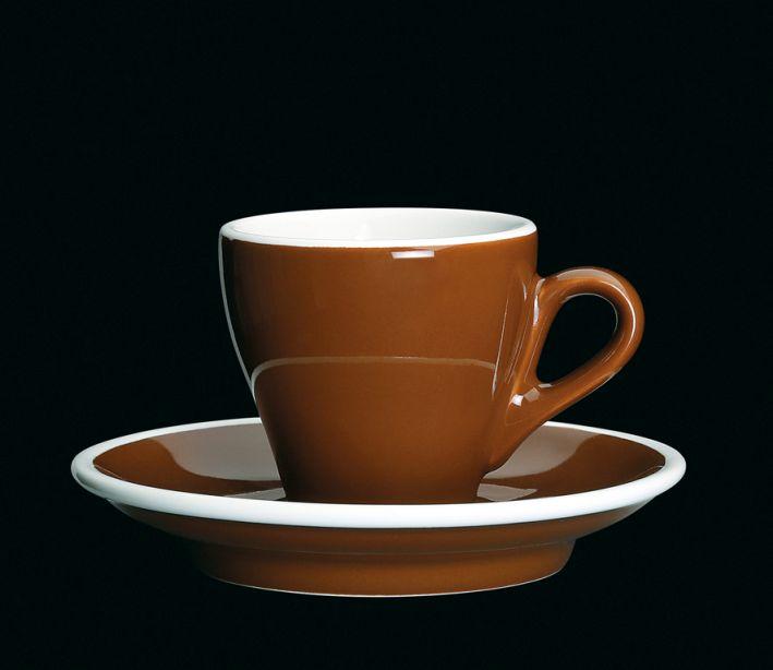 Porcelánový šálek na espresso Milano hnědý 50 ml - Cilio