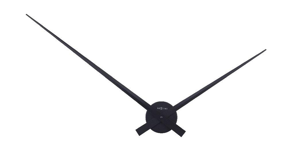 Designové hodiny HANDS 85 cm, kov/černé - NEXTIME