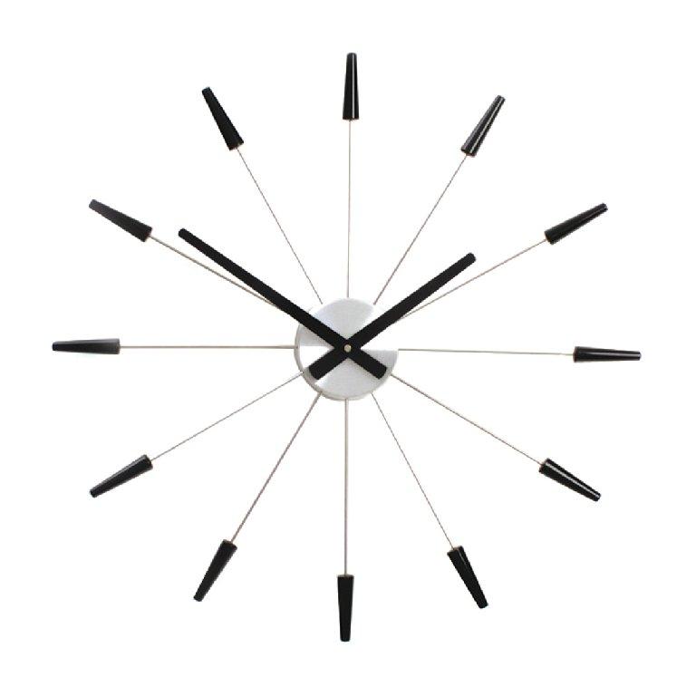 Nástěnné hodiny PLUG INN černé 60 cm - NEXTIME