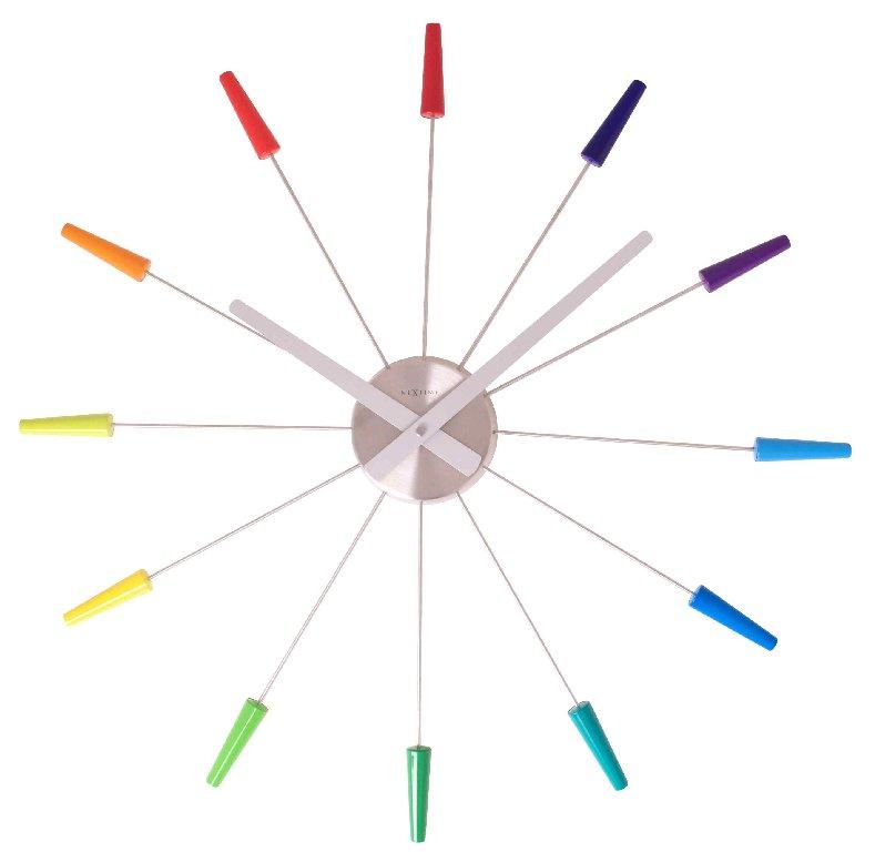 Nástěnné hodiny PLUG INN barevné 60 cm - NEXTIME